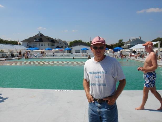 Norman at the Allenhurst beach club pool